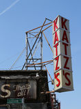 Sign for the historical Katz`s Delicatessen Stock Photography