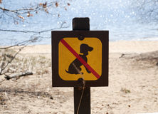 Sign, hold dog on a leash in the park Royalty Free Stock Photos