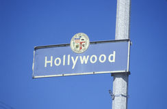 A sign for Hollywood Royalty Free Stock Image