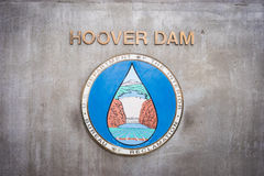 Sign on Hoover Dam Site Stock Photography