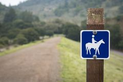 Sign for horseback riding Royalty Free Stock Photos