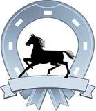 Sign horseshoe. Award horseman signet royalty free illustration