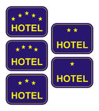 Sign for hotel with stars+ vector file Stock Photo
