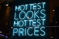 Sign  Hottest Looks Hottest Prices Stock Photos