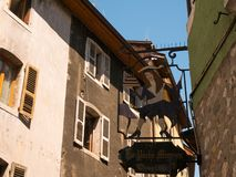 Sign on a house in Annecy France. Sign on a house in Annecy royalty free stock photography