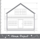 sign house project in black. Flat design. Stock Images
