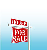 Sign of house for sale Royalty Free Stock Photography