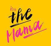 Sign I`m the Mama, icon for web, label, icon, minimal dynamic design. Limited Offer Mega Sale banner. Sale poster. Hand drawn de stock illustration