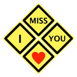 Sign of i miss you. You can talk I miss you everyday Royalty Free Stock Photography