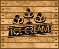 Sign with ice cream Stock Photo