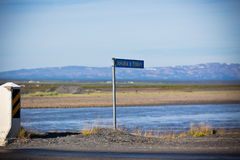 Sign of Icelandic river Jokulsa a Fjollum Royalty Free Stock Photo