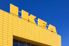 Sign IKEA at IKEA Samara Store Stock Images