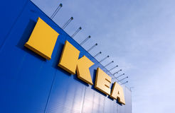 Sign IKEA at IKEA Samara Store Royalty Free Stock Photography
