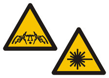 Sign illustration. Danger, hazard illustration Royalty Free Stock Photography