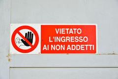 Sign indicating Stock Photography