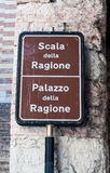 Sign indicating  Palace of reason Stock Photos