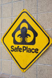 Sign indicating a safe place. Stock Image