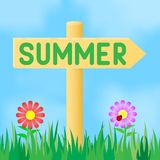 Sign with the inscription summer. Royalty Free Stock Images