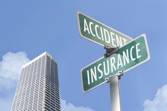 Sign of Insurance and accident Royalty Free Stock Photography