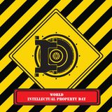 Sign for Intellectual Property Day Stock Image