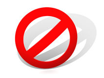 Sign. Interdiction. 3d Royalty Free Stock Photography