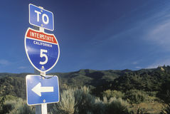 A sign for Interstate 5 Stock Image