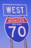 A sign for interstate 70 Royalty Free Stock Images