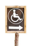 Sign for invalid person entry Royalty Free Stock Photography