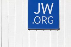 Sign of Jehovah`s witnesses Stock Photos