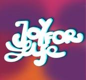 Sign Joy for Life. Hand drawn design element. Vector. vector illustration