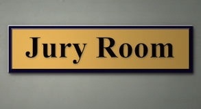 Sign for jury room. A 3d rendering of a sign for JURY ROOM Stock Photos