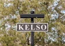 Sign at the Kelso Depot. Kelso, California, sign at historic railroad depot stock image