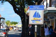 Sign of Key West Harborwalk Royalty Free Stock Image
