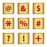 Sign keypad metal Royalty Free Stock Images