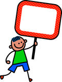 Sign Kid Royalty Free Stock Images