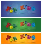 Sign for kids Stock Image