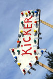Sign Kikcker Royalty Free Stock Images