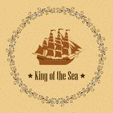 Sign of King of the Sea Royalty Free Illustration