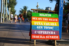 SIgn of a kiosk in Barcellona, Spain Stock Photo