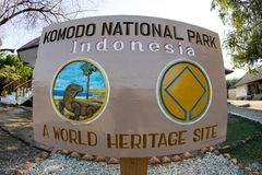 Sign in Komodo National Park Royalty Free Stock Image