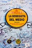 Sign at La Bodeguita del Nedio in Havana Royalty Free Stock Photography