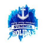 Sign, label, logo or emblem of summer holidays Stock Photo