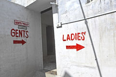 Sign ladies for the public toilet Stock Photography