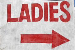 Sign ladies for public toilet. Sign ladies for the public toilet royalty free stock photo