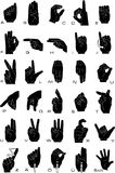 Sign language. And the alphabet Royalty Free Stock Photography