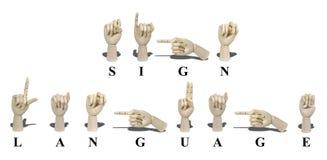 Sign Language in American Sign Language Stock Image