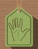 Sign language design. Illustration eps10 graphic Stock Images