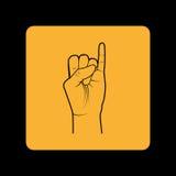 Sign language design Stock Photos
