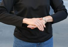 Sign Language for English Stock Photography