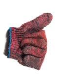 Sign language hand glove Royalty Free Stock Image